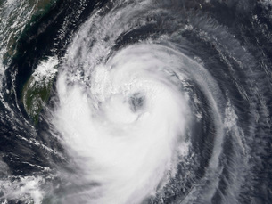 Typhoon Chaba in the western Pacific Ocean.の写真素材 [FYI02853176]