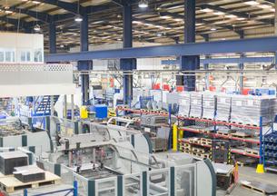 View of steel factoryの写真素材 [FYI02853431]