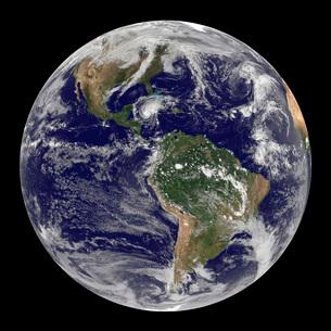 Full Earth showing Hurricane Paloma.の写真素材 [FYI02854003]