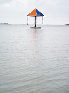Finland, Uusimaa, Hanko, Leisure facility in waterの写真素材 [FYI02855613]