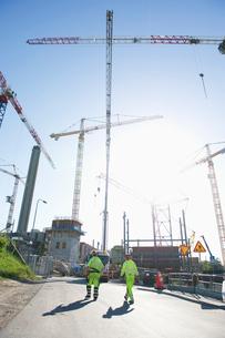 Sweden, Stockholm, Ostermalm, Vartahamnen, Construction siteの写真素材 [FYI02855618]