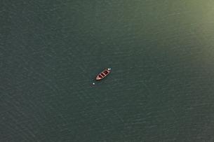 Finland, Uusimaa, Porkkala, Empty outboard motorの写真素材 [FYI02855675]