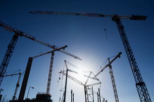 Sweden, Stockholm, Ostermalm, Vartahamnen, Construction siteの写真素材 [FYI02855694]
