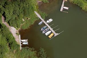 Finland, Uusimaa, Porkkala, Aerial view of marinaの写真素材 [FYI02855727]