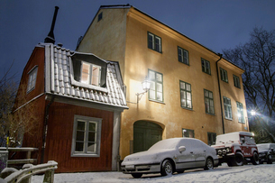 Sweden, Sodermanland, Stockholm, Sodermalm, House in old townの写真素材 [FYI02855933]