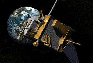 Artist Concept of the Lunar Reconnaissance Orbiter.の写真素材 [FYI02855991]