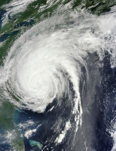 Hurricane Irene over the eastern United States.の写真素材 [FYI02856000]