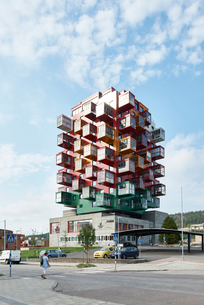 Ting1 building in Angermanland, Swedenの写真素材 [FYI02856202]