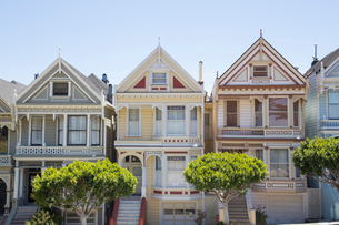 Houses in San Francisco, Californiaの写真素材 [FYI02856308]