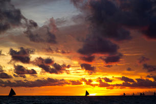 Sea in the twilightの写真素材 [FYI02856375]