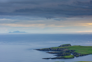 Coastline and seascape in Shetland, Scotlandの写真素材 [FYI02856474]