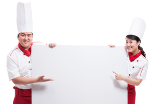 Cooks with whiteboardの写真素材 [FYI02856500]