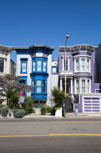 Houses in San Francisco, Californiaの写真素材 [FYI02856515]