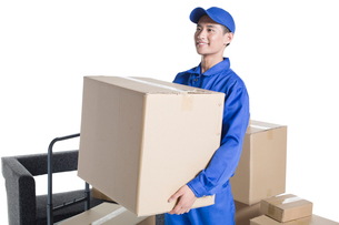 House-moving serviceの写真素材 [FYI02856525]