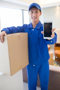 House-moving serviceの写真素材 [FYI02856547]
