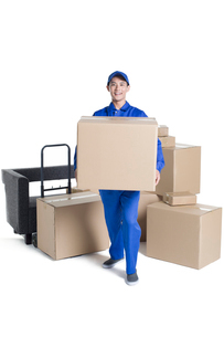House-moving serviceの写真素材 [FYI02856669]