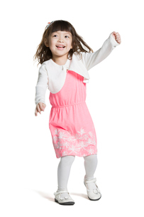 Cute little girlの写真素材 [FYI02856675]