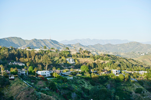 Houses in hills in Hollywood, USAの写真素材 [FYI02856770]