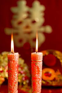 Traditional Chinese wedding elementsの写真素材 [FYI02856928]