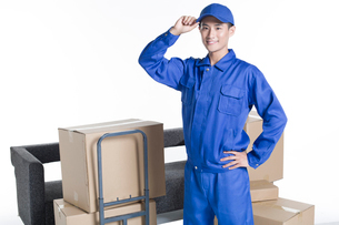 House-moving serviceの写真素材 [FYI02856945]