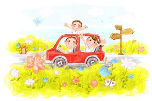 Happy family on road tripのイラスト素材 [FYI02856947]