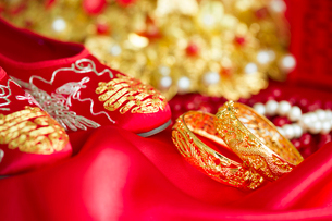 Traditional Chinese wedding elementsの写真素材 [FYI02857064]
