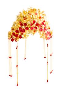 Traditional Chinese wedding elementsの写真素材 [FYI02857070]