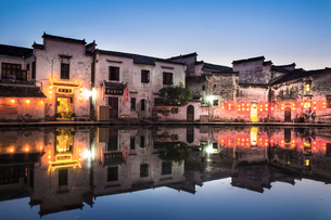 Hong village in Anhui province,Chinaの写真素材 [FYI02857280]