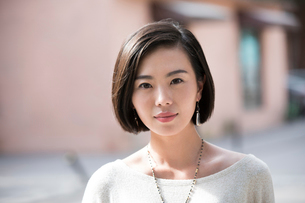 Beautiful young Chinese womanの写真素材 [FYI02857339]