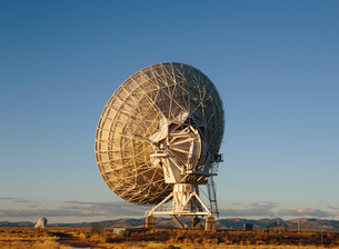 Large radio antennas, also know as The Very Large Array (VLA), used to search for extra-terrestrialの写真素材 [FYI02858522]