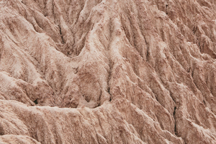 Elevated view of the Painted Desert rock formations in the Petrified Forest National Parkの写真素材 [FYI02858556]