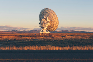 Large radio antennas, also know as The Very Large Array (VLA), used to search for extra-terrestrialの写真素材 [FYI02858789]