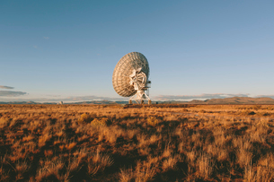 Large radio antennas, also know as The Very Large Array (VLA), used to search for extra-terrestrialの写真素材 [FYI02858793]