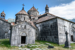 Exterior view of the medieval Haghpat Monastery, Haghpat, Armenia.の写真素材 [FYI02858950]