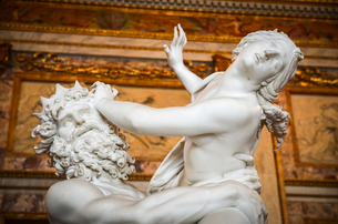 The Rape of Prosperpina by Pluto, Gian Lorenzo Bernini, marble statue in the Galleria Borghese, Romeの写真素材 [FYI02859615]