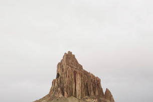 Shiprock is a sacred Navajo landmark on the Navajo Indian Reservation in New Mexicoの写真素材 [FYI02859659]