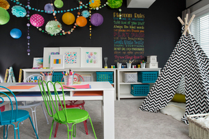 Playroom in contemporary homeの写真素材 [FYI02859999]