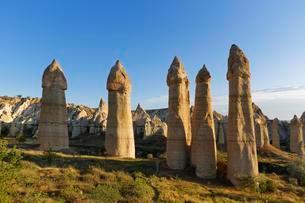 Fairy chimneys, phallus-shaped tufa formations, Loveの写真素材 [FYI02860616]