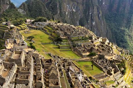 Ruins, Inca city Machu Picchu, UNESCO World Heritage Siteの写真素材 [FYI02860770]