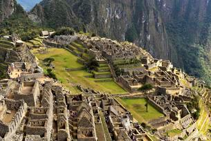 Ruins, Inca city Machu Picchu, UNESCO World Heritage Siteの写真素材 [FYI02860770]