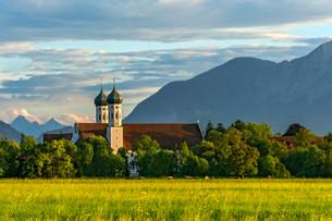 Basilica of St Benedict, Benedictine monasteryの写真素材 [FYI02860790]