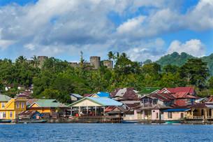 Banda Neira with Fort Belgica, Banda, Maluku Islandsの写真素材 [FYI02860860]