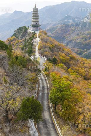 Autumn color of Xiantang Mountain,Chinaの写真素材 [FYI02861147]