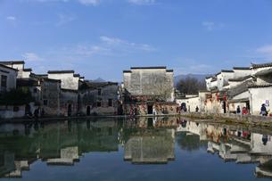 Hongcun moon marshの写真素材 [FYI02861220]