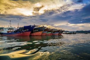 Dongping fishing port,Yangjiang, Guangdong, Chinaの写真素材 [FYI02861236]