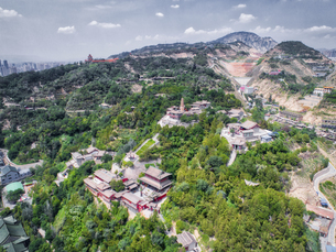 aerial photography of Lanzhou cityの写真素材 [FYI02861256]