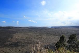 ハワイ島 キラウエア展望台からのハレマウマウ火口の写真素材 [FYI02861259]