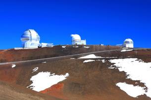 ハワイ島 マウナ・ケア山頂天文台群の写真素材 [FYI02861295]