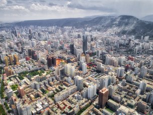 aerial photography of Lanzhou cityの写真素材 [FYI02861311]
