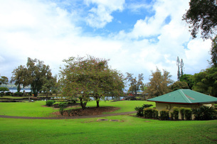 ハワイ島ヒロのリリウオカラニ公園の写真素材 [FYI02861329]